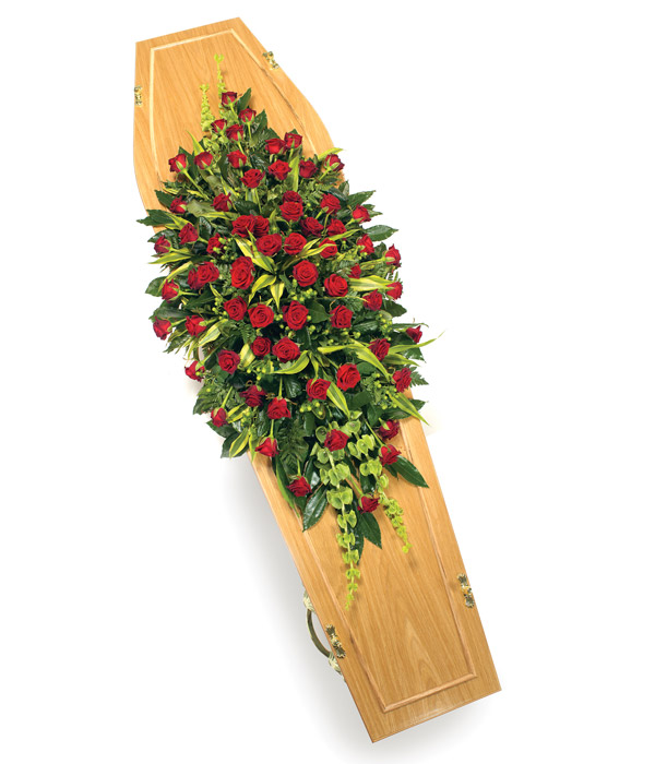 Red Rose Casket Spray